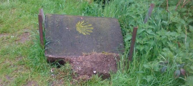Vandalismus am Jakobsweg
