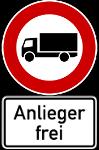 Lkw Verbot zwischen Rübenach und dem GVZ auf der L 125 (Anderbachstraße).